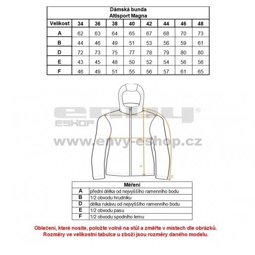 Dámská softshellová bunda ALTISPORT MAGNA ALLW16040 ČERNÁ