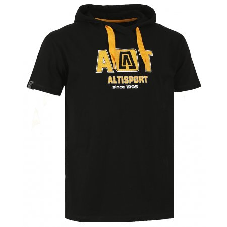 Pánské triko s krátkým rukávem ALTISPORT KASTRI ALMW16070 ČERNÁ
