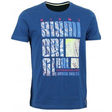 Pánské triko s krátkým rukávem KIXMI BEVIS AAMTW16151 TMAVĚ MODRÁ