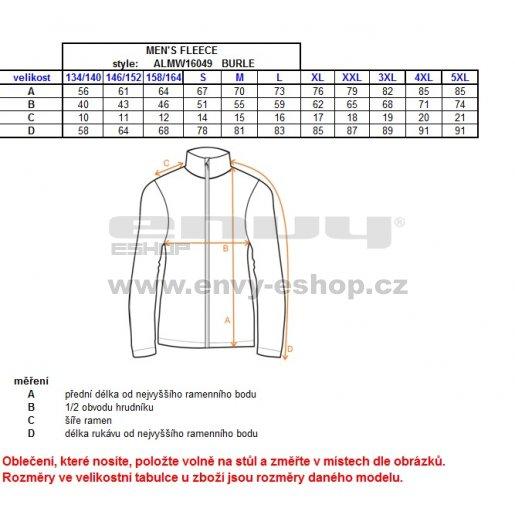 Pánská fleece mikina ALTISPORT BURLE ALMW16049 MODRÁ