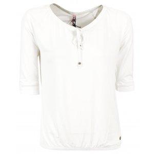 Dámské triko s 3/4 rukávem KIXMI BETTY AALTW16105 BÍLÁ