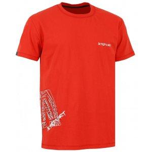 Chlapecké triko s krátkým rukávem ALTISPORT TIMIOS-J TMAVĚ ČERVENÁ
