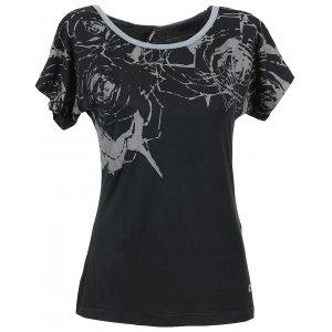 Dámské triko s krátkým rukávem KIXMI BERNADETT AALTW16104 ČERNÁ