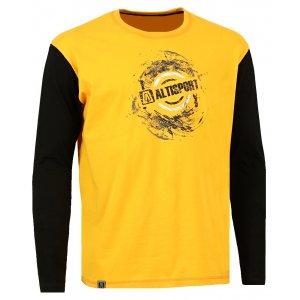 Pánské triko s dlouhým rukávem ALTISPORT CORUM ALMW16082 ŽLUTÁ