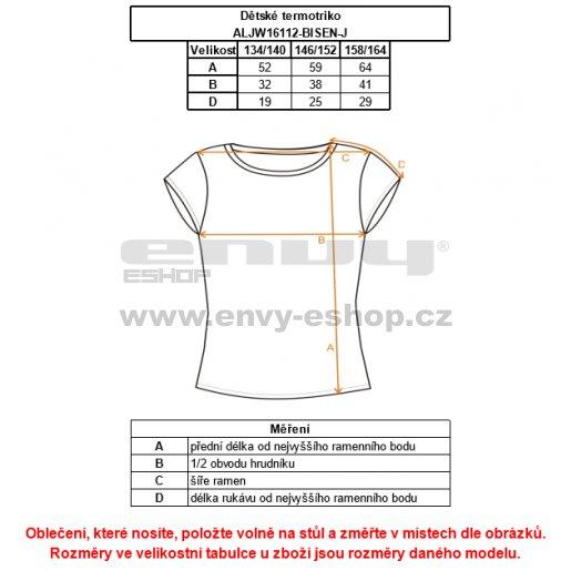 Chlapecké termo triko ALTISPORT BISEN-J ALJW16112 MODRÁ