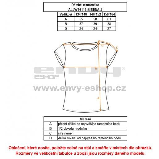 Dívčí termo triko ALTISPORT BISENA-J ALJW16113 ČERNÁ