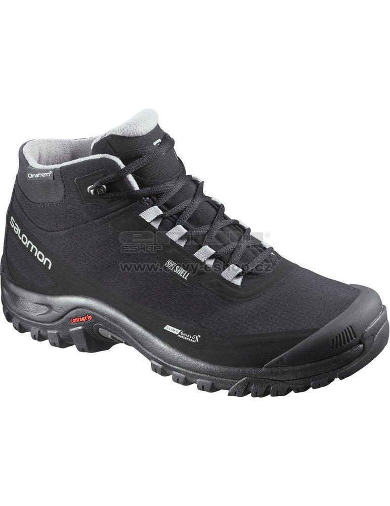Dámské zimní boty Salomon Shelter CS WP W Black black stone blue ... fba4039ff9
