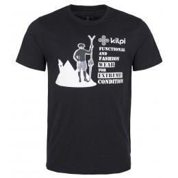 Pánské tričko s krátkým rukávem KILPI VINTAGE-M ČERNÁ