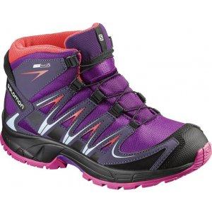 Dětské trekové boty Salomon XA Pro 3D Mid CSWP J Passion purple/nightsha