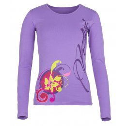 Dámské tričko s dlouhým rukávem KILPI ORNAMENT-W FIALOVÁ