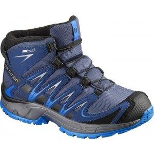 Dětské trekové boty Salomon XA Pro 3D Mid CSWP J Slate blue/blue dept