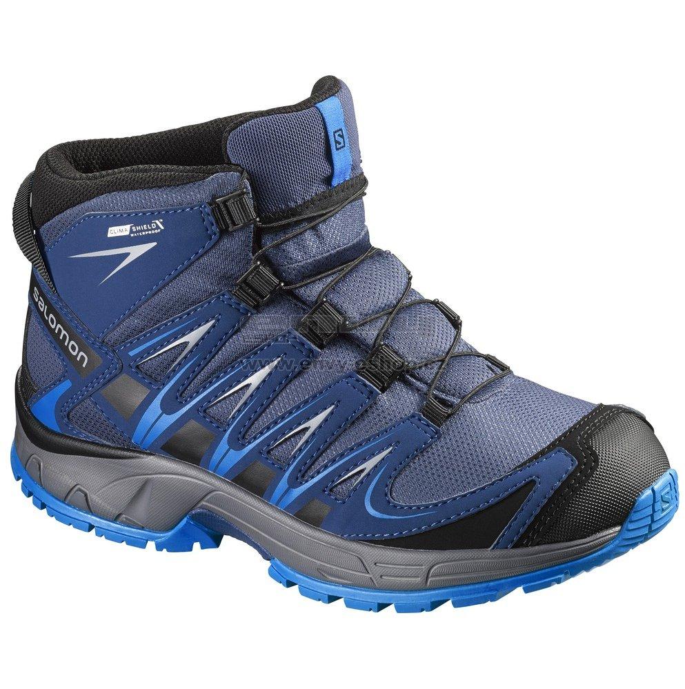 e0fc7a55bb1 Dětské trekové boty Salomon XA Pro 3D Mid CSWP K Slate blue blue dept