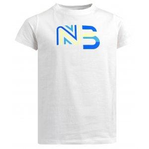 Dívčí bavlněné tričko NORDBLANC SOURCE NBSKT6312S BÍLÁ