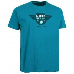 Pánské tričko NORDBLANC AVIATION NBSMT6210 ZELENÝ SMARAGD