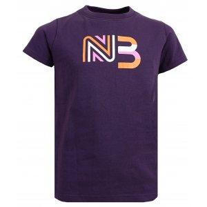Dívčí bavlněné tričko NORDBLANC SOURCE NBSKT6312S TMAVĚ FIALOVÁ