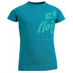 Dívčí bavlněné tričko NORDBLANC EVERY NBSKT6310L ZELENÝ SMARAGD