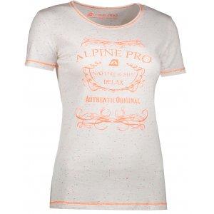 Dámské triko s krátkým rukávem ALPINE PRO ROZENA 3 LTSJ193 BÍLÁ