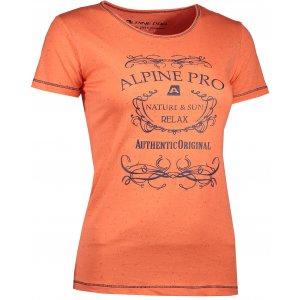 Dámské triko s krátkým rukávem ALPINE PRO ROZENA 3 LTSJ193 ORANŽOVÁ