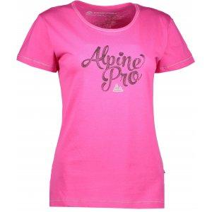 Dámské triko s krátkým rukávem ALPINE PRO FONTA LTSJ240 RŮŽOVÁ