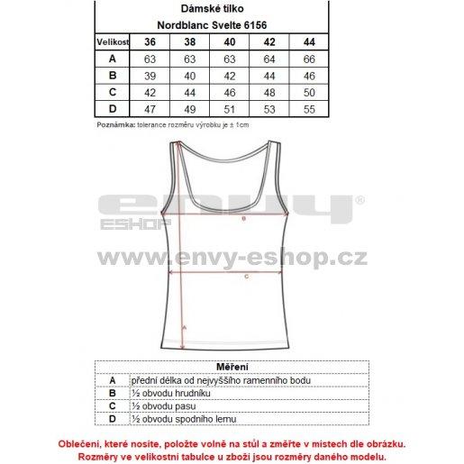 Dámské sportovní tílko NORDBLANC SVELTE NBSLF6156 LEDOVĚ MODRÁ