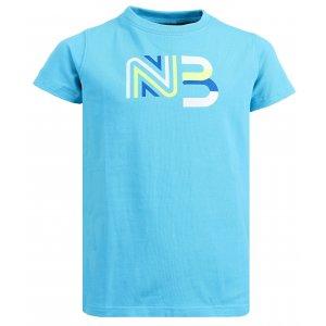 Dívčí bavlněné tričko NORDBLANC SOURCE NBSKT6312S LEDOVĚ MODRÁ