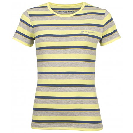 Dámské triko s krátkým rukávem ALPINE PRO PENSIERI 2 LTSJ186 ŽLUTÁ