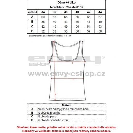 Dámské sportovní tílko NORDBLANC CHASTE NBSLF6155 LEDOVĚ MODRÁ