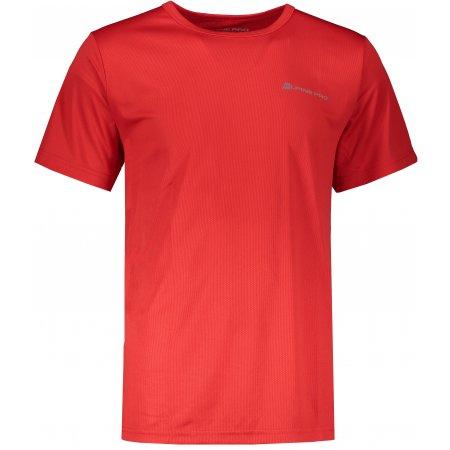 Pánské funkční triko s krátkým rukávem ALPINE PRO NASMAS MTSJ117 ČERVENÁ