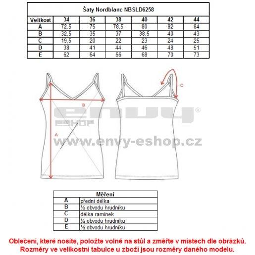 Dámské šaty NORDBLANC STRINGS NBSLD6258 ŽELEZNÁ MODRÁ