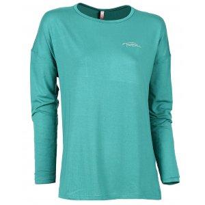 Dámské tričko na jógu NORDBLANC SLOPPY NBSLF6183 ZELENÝ SMARAGD
