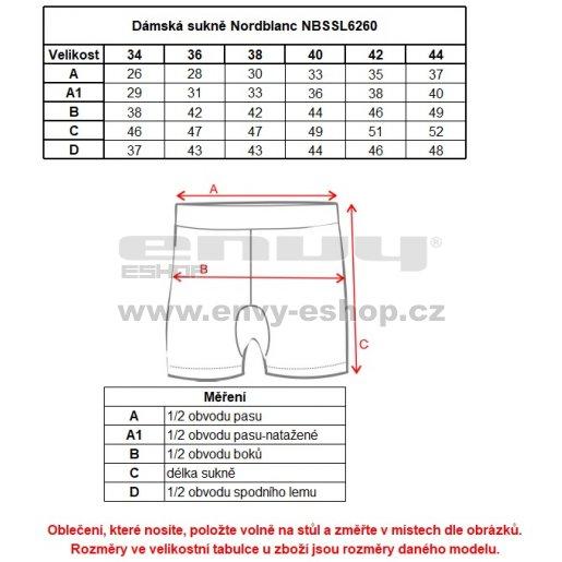 Dámská sukně NORDBLANC TULIP NBSSL6260 KORSICKÁ ZELENÁ