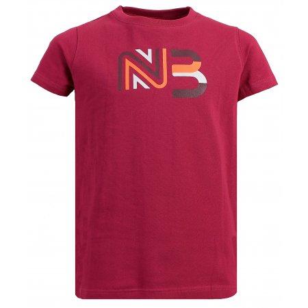 Dívčí bavlněné tričko NORDBLANC SOURCE NBSKT6312S ČERVENÁ MALINA