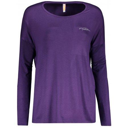 Dámské tričko na jógu NORDBLANC SLOPPY NBSLF6183 TMAVĚ FIALOVÁ