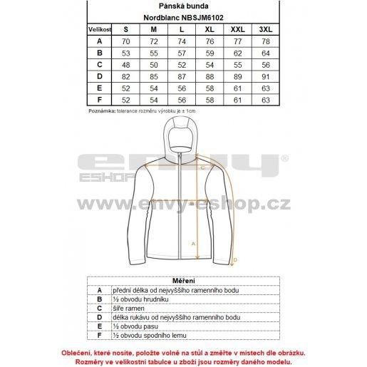 Pánská bunda NORDBLANC IDEALY NBSJM6102 ČERNÁ