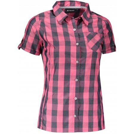 Dámská košile s krátkým rukávem ALPINE PRO LURINA LSHJ011 RŮŽOVÁ