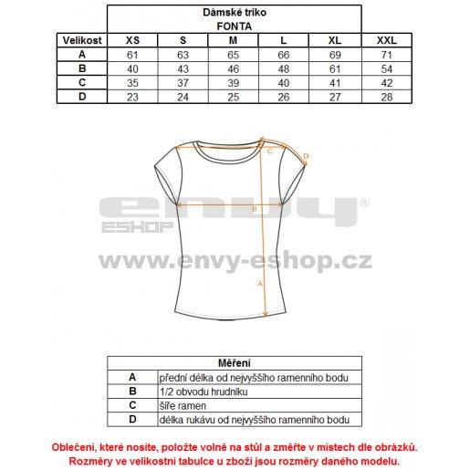 Dámské triko s krátkým rukávem ALPINE PRO FONTA LTSJ240 ČERNÁ