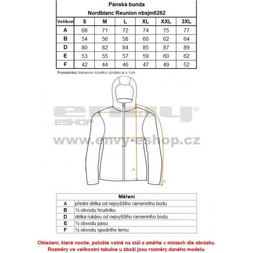 Pánská bunda NORDBLANC REUNION NBSJM6262 ČERNÁ