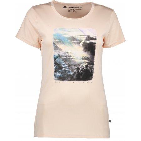 Dámské triko s krátkým rukávem ALPINE PRO SATURA LTSJ244 BÉŽOVÁ