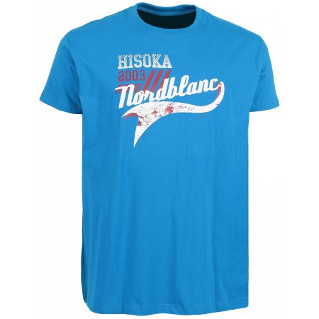 Pánské tričko NORDBLANC HISOKA NBSMT6207 AZUROVÁ MODRÁ