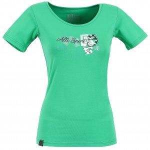 Dámské triko s krátkým rukávem ALTISPORT DEODA ALLS17059 ZELENÁ