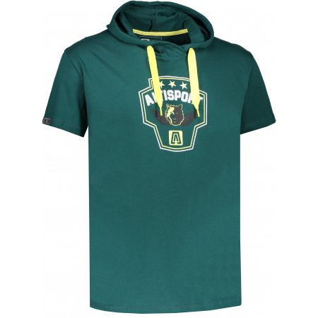 Pánské triko s krátkým rukávem ALTISPORT RAJUR ALMS17074 TMAVĚ ZELENÁ
