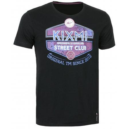 Pánské triko s krátkým rukávem KIXMI CHARLIE AAMTS17152 ČERNÁ