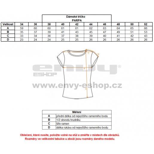 Dámské triko s krátkým rukávem ALTISPORT PARPA ALLS17058 ČERNÁ