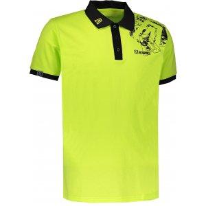 Pánské triko s límečkem ALTISPORT KITTES ALMS17056 SVĚTLE ZELENÁ