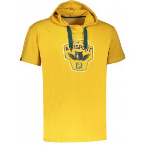 Pánské triko s krátkým rukávem ALTISPORT RAJUR ALMS17074 ŽLUTÁ