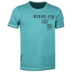 Pánské triko s krátkým rukávem KIXMI COLLINS AAMTS17154 MODRÁ