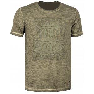 Pánské triko s krátkým rukávem KIXMI CALLIS AAMTS17151 KHAKI