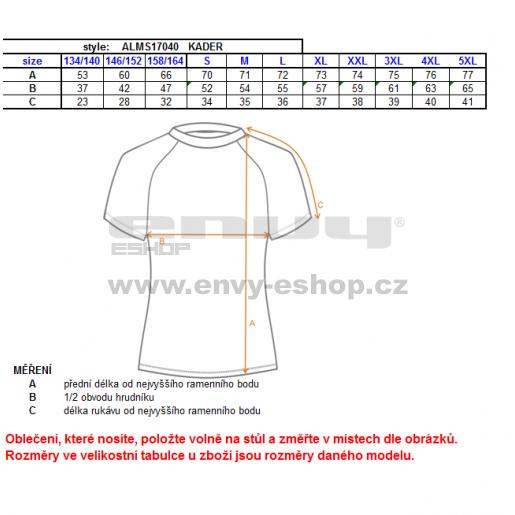 Dětské funkční triko ALTISPORT KADER-J ALJS17040 ŽLUTÁ