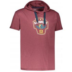 Pánské triko s krátkým rukávem ALTISPORT RAJUR ALMS17074 HNĚDÁ