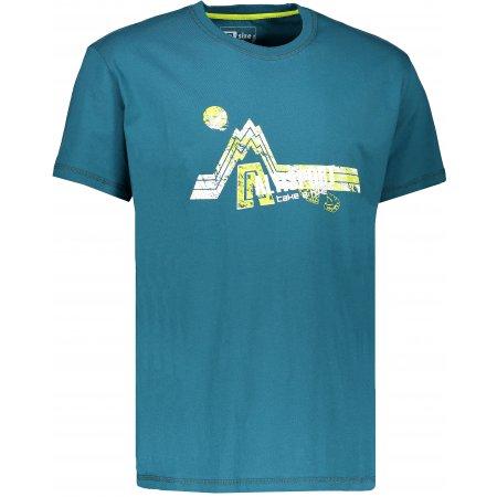 Pánské triko s krátkým rukávem ALTISPORT KENDAR ALMS17069 TYRKYSOVÁ